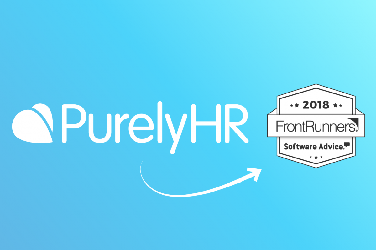 PurelyHR Software Advice Front Runner Award