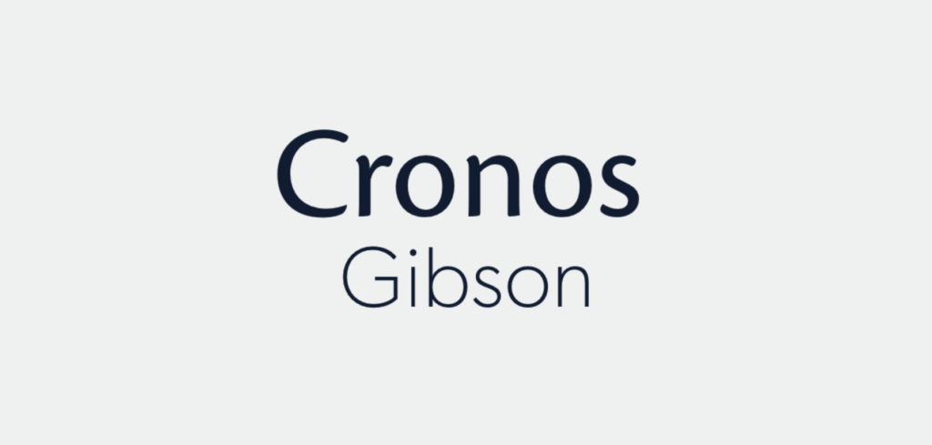PurelyHR new fonts: Cronos and Gibson